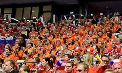 18-12-2015 DEN: World Championships Handball 2015 Poland  - Netherlands, Herning<br /> Halve finale - Nederland staat in de finale door Polen met 30-25 te verslaan / Support, publiek Oranje