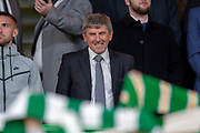 Former Liverpool player Peter Beardsley in the crowd before the UEFA Europa League group stage match between Celtic FC and Rosenborg BK at Celtic Park, Glasgow, Scotland on 20 September 2018.