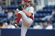 Arkansas' Mike Bolsinger pitches vs. Mississippi in a college baseball game at Oxford-University Stadium in Oxford, Miss. on Sunday, May 9, 2010. Arkansas won 7-0.