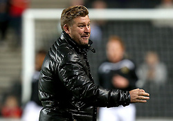 Milton Keynes Dons manager Karl Robinson - Mandatory by-line: Robbie Stephenson/JMP - 18/10/2016 - FOOTBALL - Stadium MK - Milton Keynes, England - Milton Keynes Dons v Bristol Rovers - Sky Bet League One