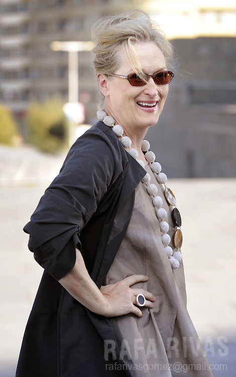 "US actress Meryl Streep poses during a photocall, on September 26, 2008, in the 56th San Sebastian International Film Festival. Streep will receive in a few hours the festival's ""Donostia"" award. PHOTO RAFA RIVAS"