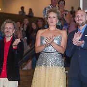 NLD/Amsterdam/20130826 - Nederlandse premiere film Borgman, Jan Bijvoet, Hadewych Minis en jan Perceval