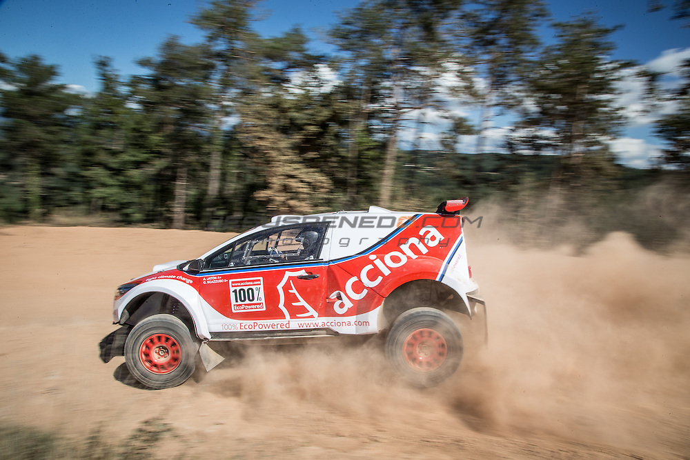 Acciona 100x100 ecopowered,electric car, Dakar 2016, Iquique,Chile