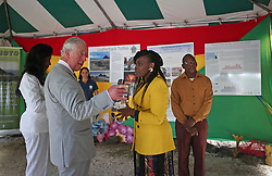 The Prince of Wales attends an exposition on the Blue Economy during a one day visit to the Caribbean island of Grenada.