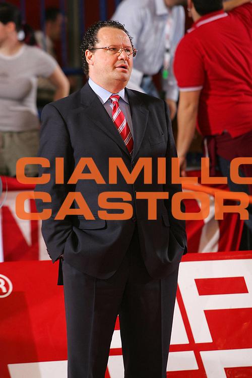 DESCRIZIONE : REGGIO EMILIA CAMPIONATO LEGA A1 2004-2005 <br /> GIOCATORE : MANETTI <br /> SQUADRA : BIPOP CARIRE REGGIO EMILIA <br /> EVENTO : CAMPIONATO LEGA A1 2004-2005 <br /> GARA : BIPOP CARIRE REGGIO EMILIA-EUROFIDITALIA REGGIO CALABRIA <br /> DATA : 17/04/2005 <br /> CATEGORIA : <br /> SPORT : Pallacanestro <br /> AUTORE : Agenzia Ciamillo-Castoria/Fotostudio 13