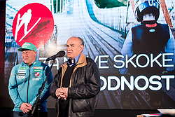 Goran Janus and Ljubo Jasnic at press conference of Slovenian Nordic Ski team after seasn 2017-18 with main sponsor Mercator, on March 28, 2018 in Maximarket, Ljubljana, Slovenia. Photo by Matic Klansek Velej / Sportida