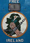 A Republican mural proclaiming a Free Ireland and with the names of local IRA volunteers in a 'Roll of Honour', killed in the 70s and 80s during the 'Troubles', on 7th June 1995, in Belfast, Northern Ireland, UK.
