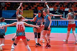 09–01-2020 NED: Olympic qualification tournament women, Apeldoorn<br /> Bulgaria - Azerbaijan / Kseniya Pavlenko #21 of Azerbaijan, Krystsina Yagubova #14 of Azerbaijan