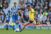 Burnley midfielder Matthew Taylor (15) during the Sky Bet Championship match between Brighton and Hove Albion and Burnley at the American Express Community Stadium, Brighton and Hove, England on 2 April 2016.