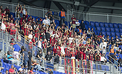 September 30, 2018 - Harrison, New Jersey, United States - Fans of Atlanta United FC support their team during regular MLS game against Red Bulls at Red Bull Arena Red Bulls won 2 - 0  (Credit Image: © Lev Radin/Pacific Press via ZUMA Wire)