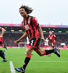 Nathan Ake of Bournemouth celebrates. - Mandatory by-line: Alex James/JMP - 18/12/2016 - FOOTBALL - Vitality Stadium - Bournemouth, England - Bournemouth v Southampton - Premier League
