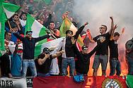 AMSTERDAM, voetbal, seizoen 2016-2017, Johan Cruijff Schaal, Feyenoord - PSV, 31-07-2016, Stadion de Arena, Feyenoord supporters, sfeer, vuurwerk, rook.