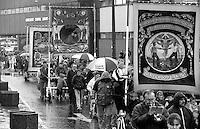 Silverwood, Dinnington, Kiveton Park and Thurcroft Branch banners. 1991 Yorkshire Miners Gala. Doncaster.
