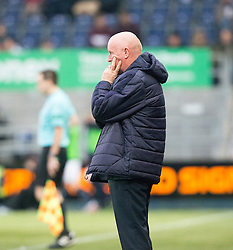 Falkirk's manager Peter Houston. Falkirk 3 v 1 St Mirren, Scottish Championship game played 3/12/2016 at The Falkirk Stadium .