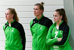 26-10-2019 NED: Dros Alterno - Set Up 65, Apeldoorn<br /> Round 4 of Eredivisie volleyball - Moniek Jansen #11 of Alterno, Sanne Konijnenberg #2 of Alterno