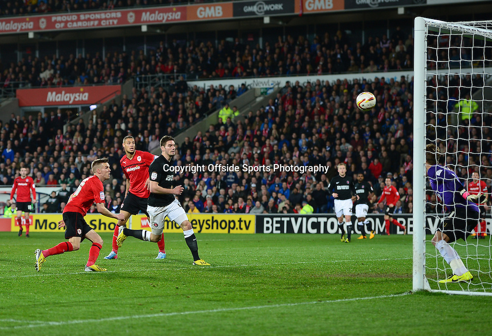 16th April 2013 - Npower Championship  - Cardiff City v Charlton Athletic - Craig Noone of Cardiff City scores a goal which is ruled offside - Photo: Marc Atkins / Offside.