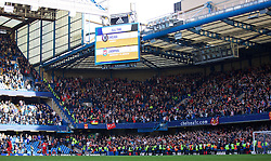 LONDON, ENGLAND - Saturday, October 31, 2015: Liverpool supporters celebrate their side's 3-1 victory over Chelsea during the Premier League match at Stamford Bridge. (Pic by Lexie Lin/Propaganda)
