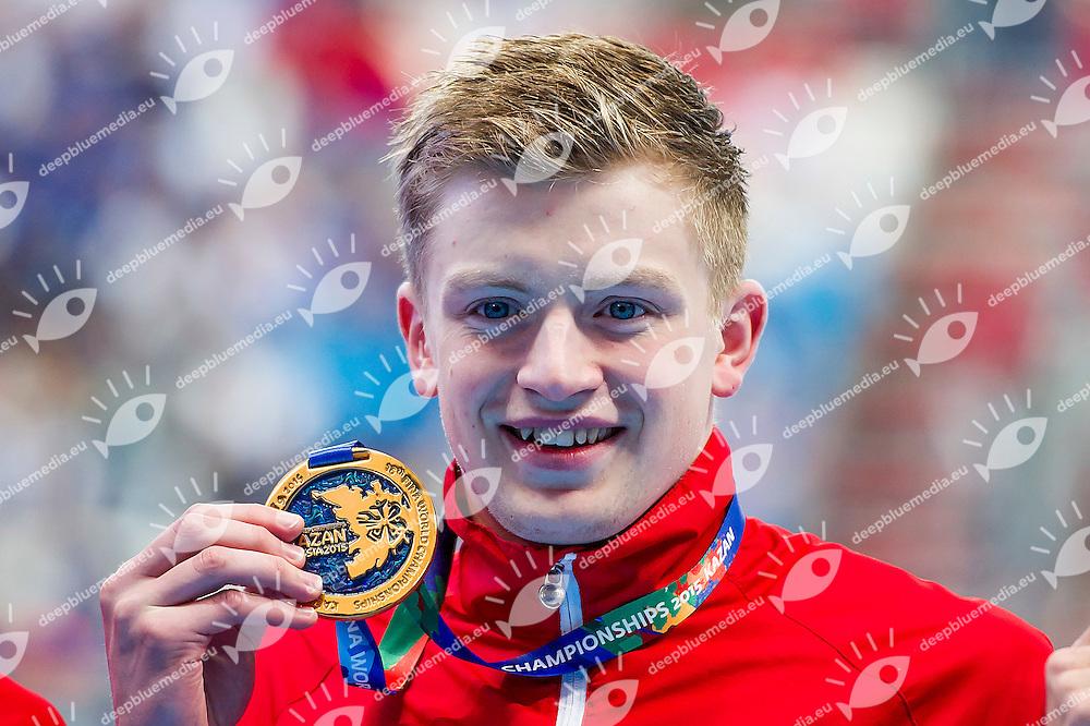 PEATY Adam GBR<br /> 100 Breaststroke Men Final Gold Medal<br /> Swimming - Kazan Arena<br /> Day11 03/08/2015<br /> XVI FINA World Championships Aquatics Swimming<br /> Kazan Tatarstan RUS July 24 - Aug. 9 2015 <br /> Photo A.Masini/Deepbluemedia/Insidefoto