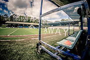 General view of the Shay stadium, away bench before the Vanarama National League North match between FC Halifax Town and Salford City at the Shay, Halifax, United Kingdom on 7 May 2017. Photo by Mark P Doherty.