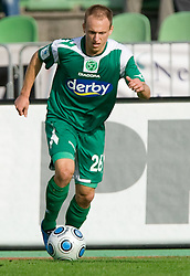 Davor Skerjanc of Olimpija at 13th Round of Prva Liga football match between NK Olimpija and Maribor, on October 17, 2009, in ZAK Stadium, Ljubljana. Maribor won 1:0. (Photo by Vid Ponikvar / Sportida)