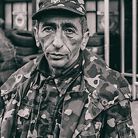 Ukraine - Kyiv - 07 May 2014 - Soldier of the new people's army guarding check point on Maidan place in Kiev.