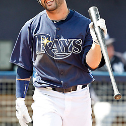 March 21, 2012; Port Charlotte, FL, USA; Tampa Bay Rays center fielder Jesus Feliciano (68) against the New York Yankees during a spring training game at Charlotte Sports Park.  Mandatory Credit: Derick E. Hingle-US PRESSWIRE