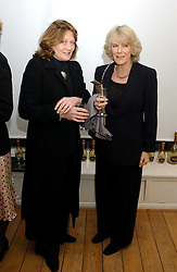 Left to right, LEONORA, COUNTESS OF LICHFIELD and HRH the DUCHESS OF CORNWALL at an exhibition of artist Jonathan Yeo's portrait paintings held at Eleven, 11 Eccleston Street, London SW1 on 16th February 2006.<br /><br />NON EXCLUSIVE - WORLD RIGHTS
