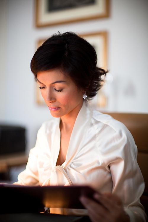 25 JUN 2010 - Roma - Mara Carfagna, Ministro per le Pari Opportunità, nel proprio ufficio nella sede del Ministero in largo Chigi - Rome (Italy) - Mara Carfagna, italian Minister for Equal Opportunities, in her office