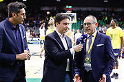 Il Presidente di Lega Basket Bianchi Egidio ai microfoni di eurosport, Germani Basket Brescia vs Auxilium Fiat Torino, Poste Mobile Final 8 2018 Finale, Lega Basket 2017/2018 Firenze 18 febbraio 2018 Nelson Mandela Forum