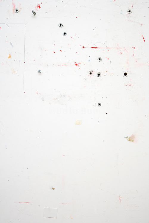 wall in an artist studio