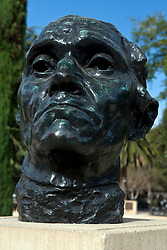 Head of Jean D'Aire, Burgher of Calais sculpture by Auguste Rodin, Stanford, California, United States of America