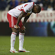 Thierry Henry, New York Red Bulls, reacts after another missed chance during the New York Red Bulls V Houston Dynamo, Major League Soccer second leg of the Eastern Conference Semifinals match at Red Bull Arena, Harrison, New Jersey. USA. 6th November 2013. Photo Tim Clayton