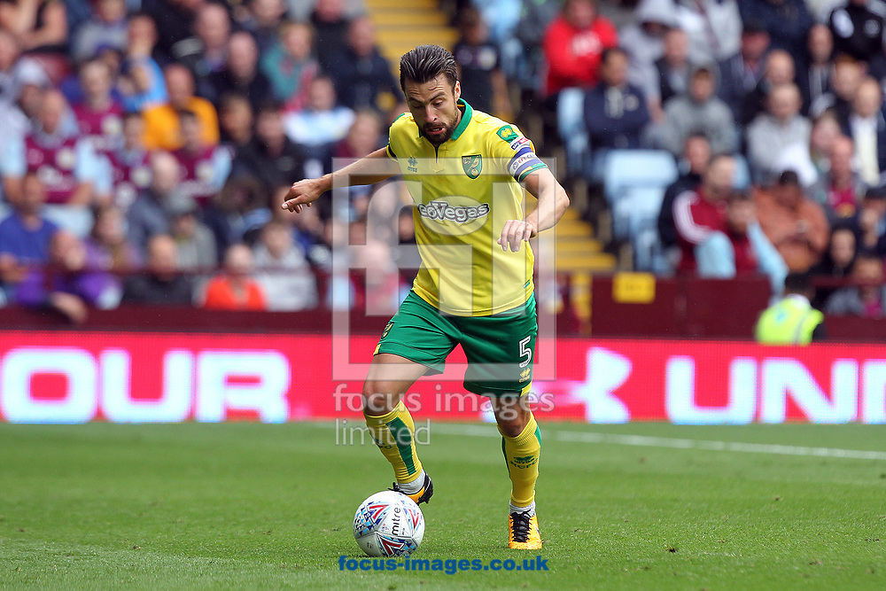 Russell Martin of Norwich in action during the Sky Bet Championship match at Villa Park, Birmingham<br /> Picture by Paul Chesterton/Focus Images Ltd +44 7904 640267<br /> 19/08/2017