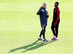 Manchester City manager Pep Guardiola gives instructions to Kelechi Iheanacho - Mandatory by-line: Matt McNulty/JMP - 18/10/2016 - FOOTBALL - Manchester City - Training session ahead of Champions League qualifier against FC Barcelona