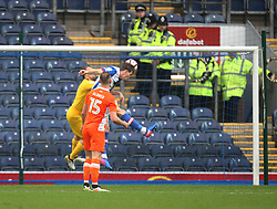 Sam Gallagher of Blackburn Rovers (R) scores his sides first goal - Mandatory by-line: Jack Phillips/JMP - 28/01/2017 - FOOTBALL - Ewood Park - Blackburn, England - Blackburn Rovers v Blackpool - FA Cup Fourth Round