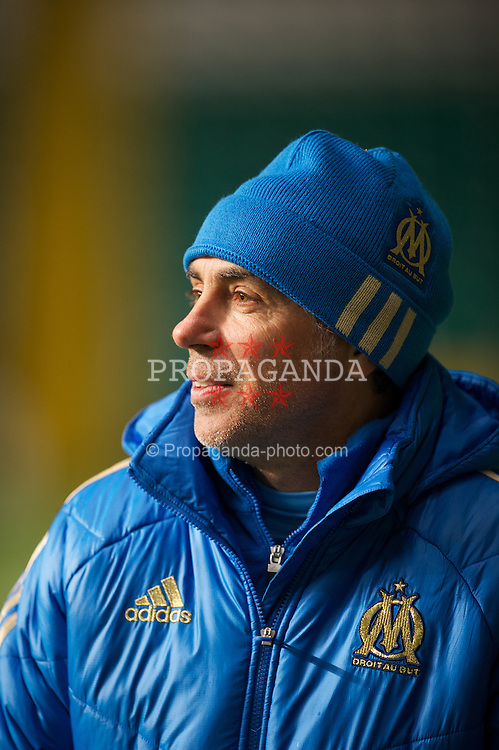 GLASGOW, SCOTLAND - Wednesday, December 7, 2011: Olympique de Marseille's head coach Jean-Luc Cassini during the NextGen Series Group 1 match against Glasgow Celtic at Celtic Park. (Pic by David Rawcliffe/Propaganda)