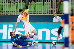 Ortiz of Spain during futsal match between National teams of Ukraine and Portugal at Day 6 of UEFA Futsal EURO 2018, on February 4, 2018 in Arena Stozice, Ljubljana, Slovenia. Photo by Urban Urbanc / Sportida