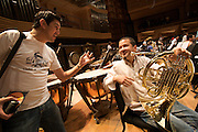 "Simo?n Boli?var Youth Orchestra of Venezuela (SBYOV), rehearsing at the auditorium ""Simo?n Boli?var"" of the ""Centro Latinoamericano de Accio?n Social por la Mu?sica (Center for Social Action Through Music)"". The ""Fundacion del Estado para el Sistema Nacional de las Orquestas Juveniles e Infantiles de Venezuela"" (FESNOJIV, National Network of Youth and Children Orchestras of Venezuela), also known as El Sistema, is a publicly financed private-sector music-education program in Venezuela, originally called Social Action for Music, founded 1975 by Venezuelan economist and amateur musician Jose? Antonio Abreu."