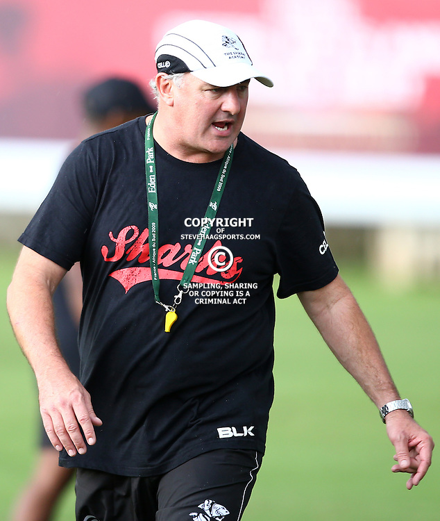 DURBAN, SOUTH AFRICA, 17 November 2015 -Gary Gold (Sharks Director of Rugby)  during The Pre-season training squad and coaching team announcement at Growthpoint Kings Park in Durban, South Africa. (Photo by Steve Haag)<br /> images for social media must have consent from Steve Haag