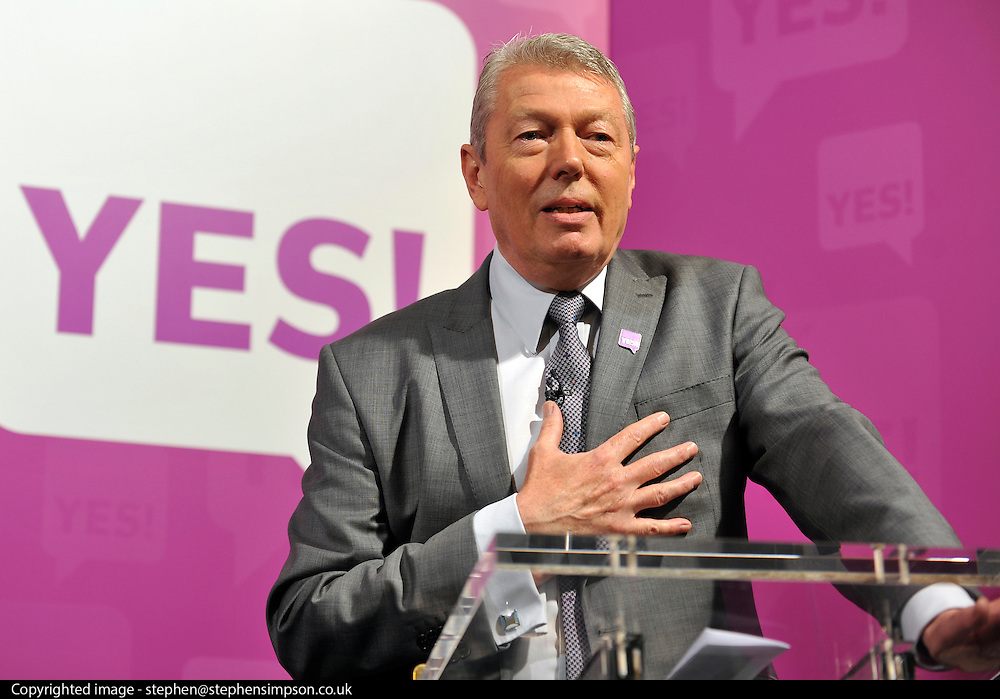 licensed to London News Pictures. LONDON UK. 27/04/11. Alan Johnson. A News conference held today (27 April 2011) in Church House, London. The conference was introduced by Katie Ghose with Lib Dem President Tim Farron, Green Party Leader Caroline Lucas, UKIP leader Nigel Farage and  Labour's  Alan Johnson, supporting a Yes for the Alternative Vote. Photo credit should read Stephen Simpson/LNP