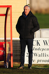 IAN CULVERHOUSE MANAGER KINGS LYNNN TOWN FC, Kettering Town FC v Kings Lynn Town FC Evo stk Southern Premier League, Latimer Park Monday New Years Day 1st January 2018.<br /> Photo:Mike Capps, Score 1-0 (Aaron O'Connor) Kettering go top of Table