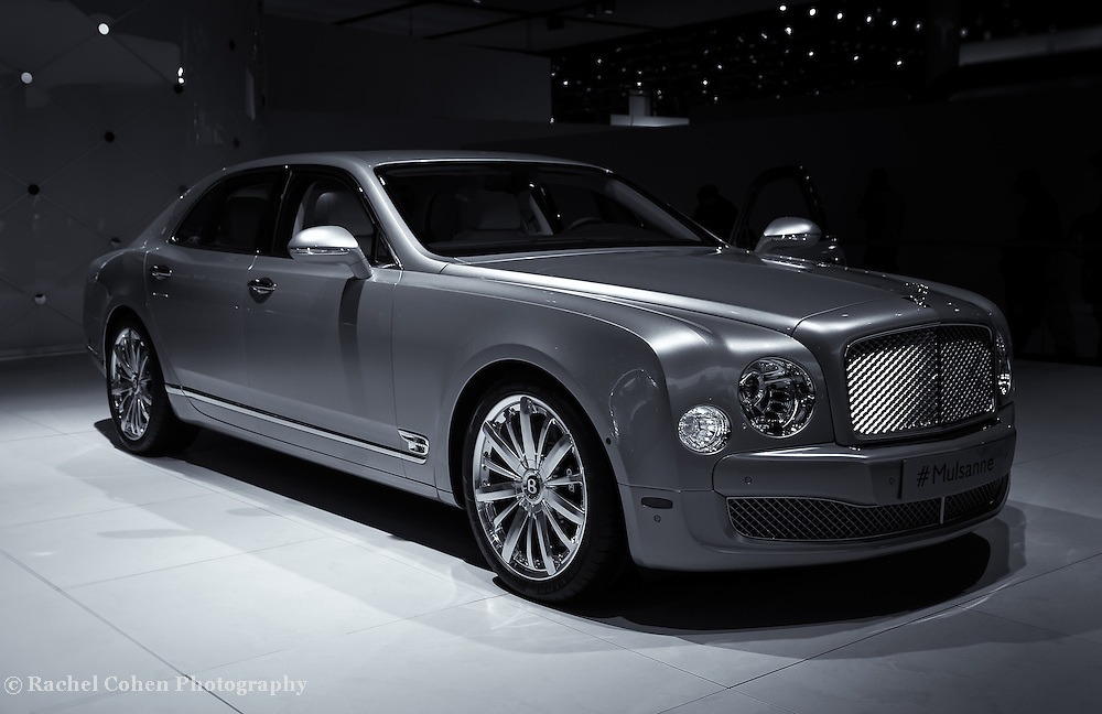 &quot;2014 Bentley Mulsanne&quot; mono<br /> <br /> The Beautiful and stylish Bentley Mulsanne seen at the 2014 Detroit NAIAS.<br /> <br /> Cars and their Details by Rachel Cohen