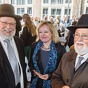 NLD/Amsterdam/20160515 - Nationaal Holocaust museum opent met schilderijen Jeroen Krabbé, Jet Bussemaker en Joodse geestelijken