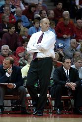 11 December 2004<br /> <br /> Marshall Head Coach Ron Jirsa<br /> <br /> ISU Redbirds V Marshall Thundering Herd NCAA Men's Basketball.  Redbird Arena, Illinois State University, Normal IL