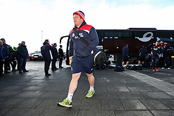 Kyle Traynor of Bristol Rugby arrives at the AJ Bell Stadium - Rogan Thomson/JMP - 01/01/2017 - RUGBY UNION - AJ Bell Stadium - Manchester, England - Sale Sharks v Bristol Rugby - Aviva Premiership New Year's Day Fixture.
