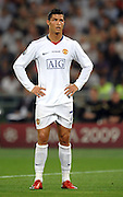 A dejected Cristiano Ronaldo during the final of the UEFA football Champions League on May 27, 2009 at the Olympic Stadium in Rome.