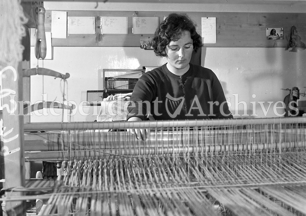 R3002<br /> National College of Art Kildare Street. Lady at weaving loom. 10 May 1962.<br /> (Part of the Independent Ireland Newspapers/NLI Collection)
