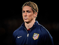 BARCELONA, SPAIN - APRIL 05: (EDITORS NOTE: This image has been processed using digitals filters.)  Fernando Torres of Atletico Madrid looks on prior the UEFA Champions League Quarter Final first leg match between FC Barcelona and Atletico de Madrid at Camp Nou on April 5, 2016 in Barcelona, Spain.  (Photo by Manuel Queimadelos Alonso/Getty Images)