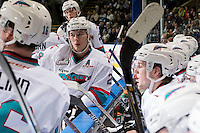 KELOWNA, CANADA - FEBRUARY 5: Tyson Baillie #24 of Kelowna Rockets stands at the bench during time out against the Spokane Chiefson February 5, 2016 at Prospera Place in Kelowna, British Columbia, Canada.  (Photo by Marissa Baecker/Shoot the Breeze)  *** Local Caption *** Tyson Baillie;
