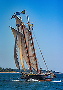 J.&E. Riggin Maine Windjammer under sail.